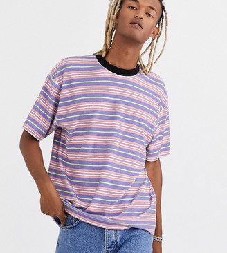 Collusion COLLUSION striped t-shirt in towel fabric-Multi
