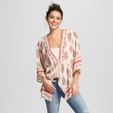 Xhilaration Women's Tie-front Kimono Blush Juniors')