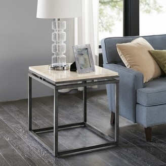 Madison Home USA Koko Cream Marble and Metal End Table