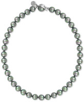 Majorica Silver-Tone Gray Imitation Pearl Collar Necklace