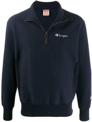 Champion small script half-zip sweatshirt
