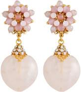 Jose & Maria Barrera Heart-Drop Clip-On Earrings