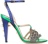 Gucci embellished sandals - women - Leather/Acrylic/Swarovski Crystal/metal - 36