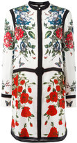 Alexander McQueen floral tablecloth tunic dress
