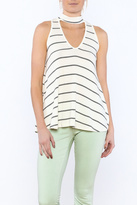 Bio Casual Stripe Sleeveless Blouse