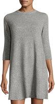 Autumn Cashmere Swing Cashmere Sweater Dress, Cement