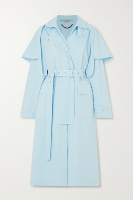 Stella McCartney Cotton-blend Twill Trench Coat - Blue