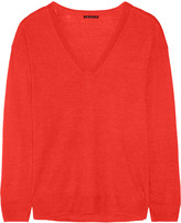 Theory Trulinda linen and wool-blend sweater