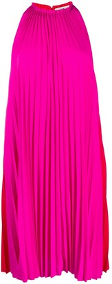 Diane von Furstenberg Pleated Halter Dress