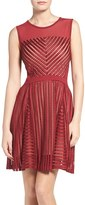 French Connection Women's Fast Score Shadow Stripe Dress