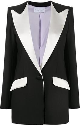 Hebe Studio Contrast Collar Blazer
