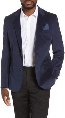 Vince Camuto Slim Fit Stretch Velvet Blazer