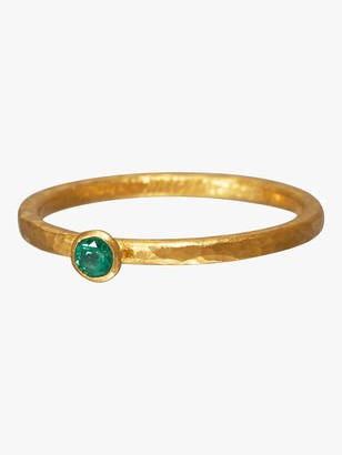 Gurhan Stacking Skittle Emerald Ring