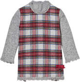 Mayoral Grey and Red Flannel Tartan Dress