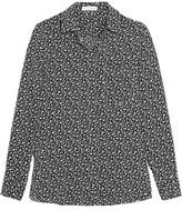 Altuzarra Chika Floral-print Silk Crepe De Chine Shirt - Black