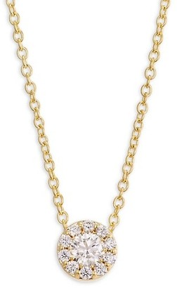 Hearts On Fire Fulfillment 18K Yellow Gold & Diamond Pendant Necklace