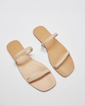 Billini - Women's Neutrals Flat Sandals - Thassos - Size 7 at The Iconic