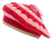 Kate Spade Women's Bold Stripe Beret - Red