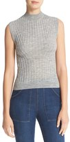 Rebecca Taylor Sleeveless Ribbed Front Pullover