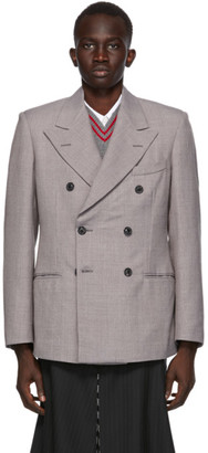 Maison Margiela Grey Technowool Twill Double-Breasted Blazer