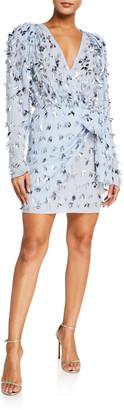 Rachel Gilbert Sequined Fringed Mini Dress