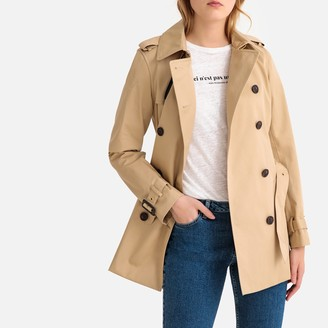 La Redoute Collections Short Cotton Trench Coat with Pockets