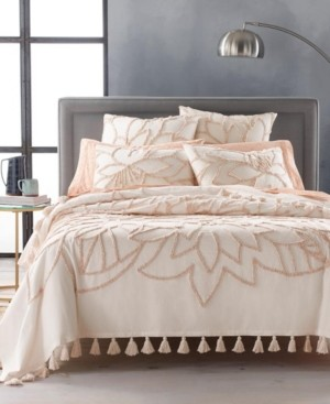 Lucky Brand Closeout! Tufted Floral Full/Queen Bed Cover Bedding