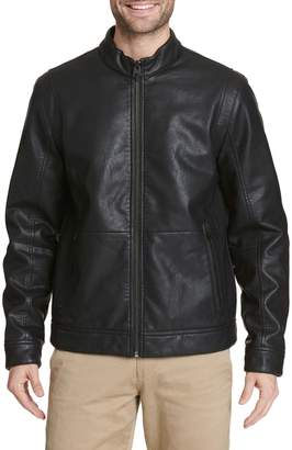 Dockers Faux Leather Bomber Jacket