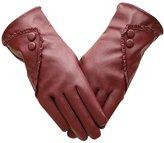 West Bank Westbank Women Winter Warm PU Leather Gloves