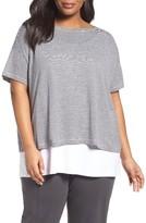 Eileen Fisher Plus Size Women's Organic Linen Stripe Jersey Top