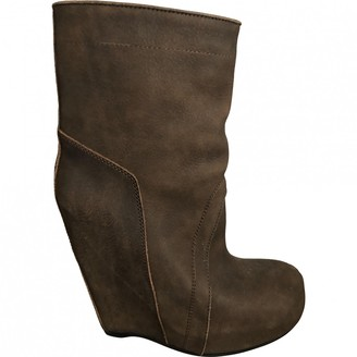 Rick Owens \N Brown Patent leather Boots
