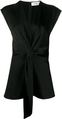 Victoria Beckham Plunge-Neck Draped Top