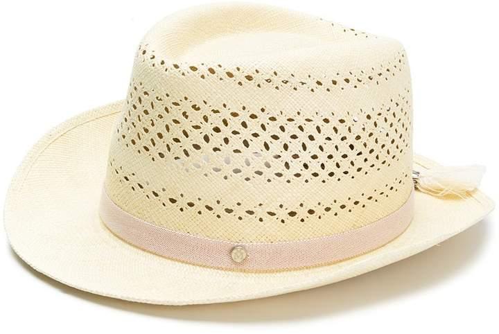 Maison Michel eyelet-embellished fedora hat
