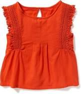 Old Navy Crochet-Trim Sleeveless Top for Girls