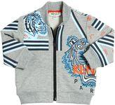Kenzo Logo Cotton Blend Zip-Up Sweatshirt