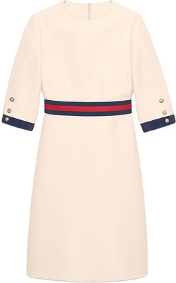 Gucci Wool silk Web dress