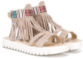 Andrea Montelpare - fringed sandals - kids - Goat Skin/Suede/rubber - 27
