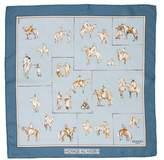 Hermes Voyage Au Niger Silk Pocket Square