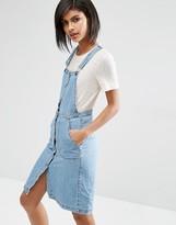 Vero Moda Button Front Overall Dress