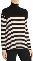 Velvet by Graham & Spencer Luxe Gauze Stripe Turtleneck Sweater