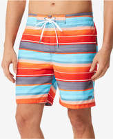 "Speedo Men's Time Off Stripe E-Board 7"" Swim Trunks"