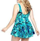 JCPenney Azul by Maxine of Hollywood® Princess Seam Swimdress - Plus