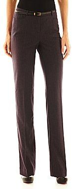 JCPenney Worthington Modern Belted Straight Pants
