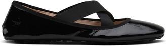 Car Shoe Elasticated Cross Strap Ballerinas