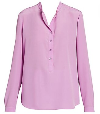 Stella McCartney Silk Crepe De Chine Tunic Blouse