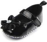Leapfrog Baby Girl's Crystal Flower Applique Sparkle Princess Mary Jane Crib Shoes