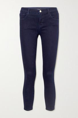 J Brand 835 Cropped High-rise Skinny Jeans - Dark denim