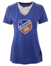 Majestic Fc Cincinnati Women's Distressed Logo T-Shirt