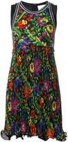 3.1 Phillip Lim floral pleated detail dress - women - Silk/Spandex/Elastane/Viscose - 0