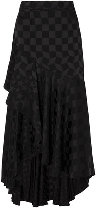 Temperley London Cyndie Satin-jacquard Midi Skirt